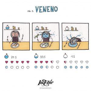 Inktober con Visual Thinking - Día 3. Veneno - Raquel Cabrero