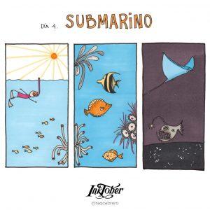 Inktober con Visual Thinking - Día 4. Submarino - Raquel Cabrero