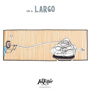 Inktober con Visual Thinking - Día 5. Largo - Raquel Cabrero