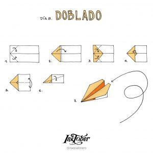 Inktober con Visual Thinking - Día 8. Doblado - Raquel Cabrero