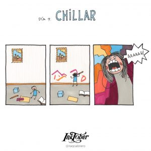 Inktober con Visual Thinking - Día 9. Chillar - Raquel Cabrero