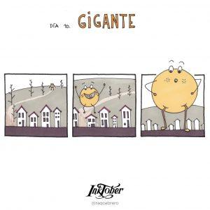 Inktober con Visual Thinking - Día 10. Gigante - Raquel Cabrero