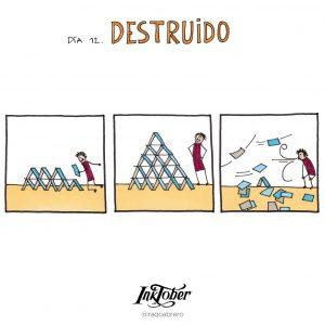 Inktober con Visual Thinking - Día 12. Destruido - Raquel Cabrero