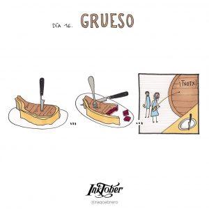 Inktober con Visual Thinking - Día 16. Grueso - Raquel Cabrero
