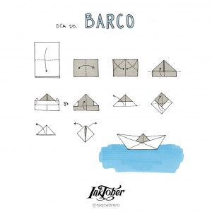Inktober con Visual Thinking - Día 25. Barco - Raquel Cabrero