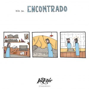 Inktober con Visual Thinking - Día 30. Encontrado - Raquel Cabrero