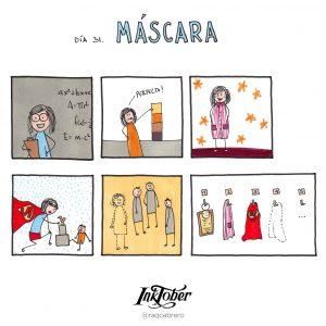 Inktober con Visual Thinking - Día 31. Máscara - Raquel Cabrero